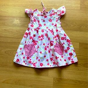 Toddler size 2 pink with floral pattern dress